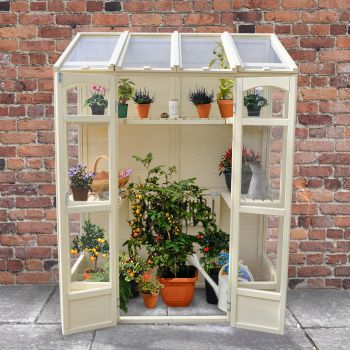 Hartwood 5' x 2' Victorian Tall Wall Greenhouse