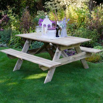 Hartwood Small Rectangular Picnic Table