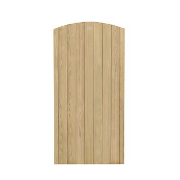 Hartwood 6' x 3' Pressure Treated Vertical Tongue & Groove Gate With Curved Top