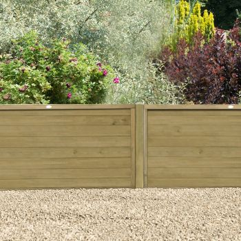 Hartwood 4' x 6' Horizontal Pressure Treated Tongue & Groove Fence Panel