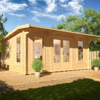 Redlands 5.4m x 4.2m Birkdale Log Cabin