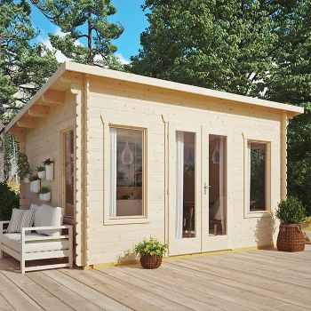 Rowlinson 4.4m x 3.4m Sanctuary Log Cabin