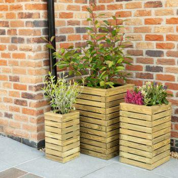 Hartwood Contemporary Planter Set