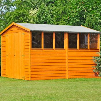 Loxley 10' x 10' Double Door Overlap Apex Workshop