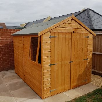 Loxley 6' x 8' Double Door Shiplap Apex Shed