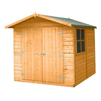 Loxley 7' x 7' Double Door Shiplap Apex Shed