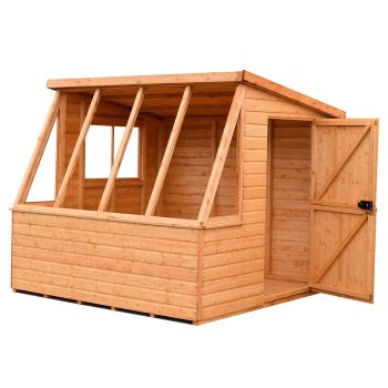 Loxley 8' x 8' Shiplap Potting Shed - Left Sided