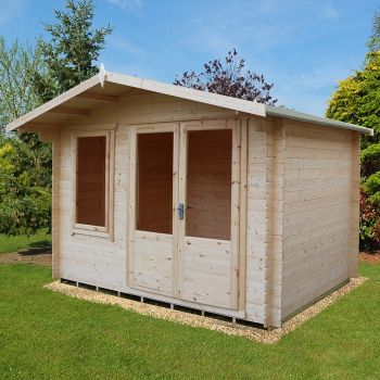Loxley 3.4m x 3m Crosby Log Cabin