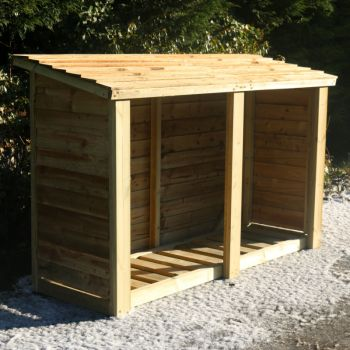 Moorvalley 4' High Extra Wide Double Log Store