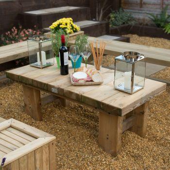 Hartwood Large Low Sleeper Garden Table