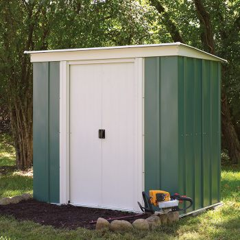 Rowlinson 6' x 4' Double Door Pent Metal Shed