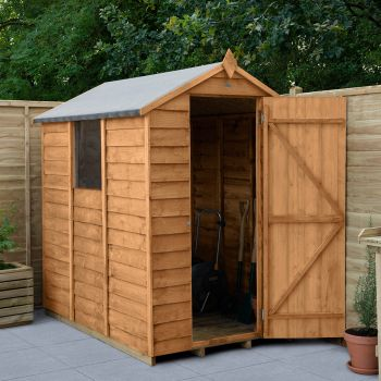 Hartwood 4' x 6' Overlap Apex Shed