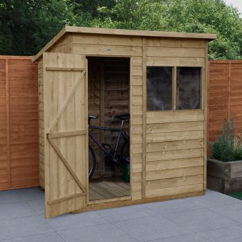Hartwood 6 x 4 Overlap Pressure Treated Pent Shed