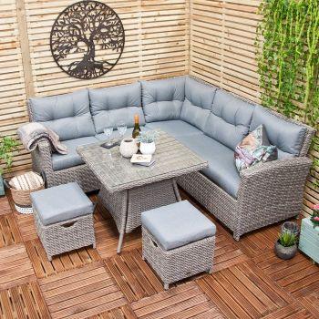 Oren Athens 5-7 Seater Rattan Lounge High Back Corner Sofa Set