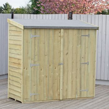 Loxley 6' x 3' Pressure Treated Overlap Pent Shed