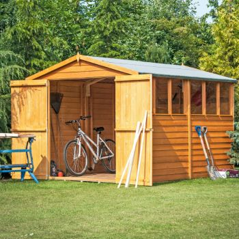 Loxley 10' x 6' Double Door Overlap Apex Shed