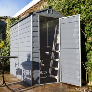 4' x 6' Palram Skylight Plastic Grey Shed