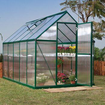 Palram 6' x 10' Mythos Green Polycarbonate Greenhouse
