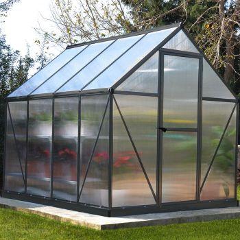 Palram - Canopia 6' x 8' Mythos Grey Polycarbonate Greenhouse