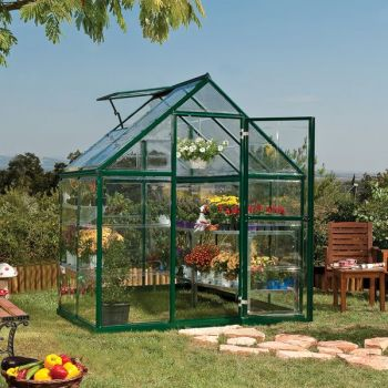 Palram 6' x 4' Harmony Green Polycarbonate Greenhouse