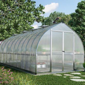 Palram - Canopia 8' x 20' Bella Siver Polycarbonate Greenhouse