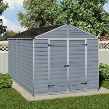 Palram 8' x 12' Skylight Plastic Grey Shed