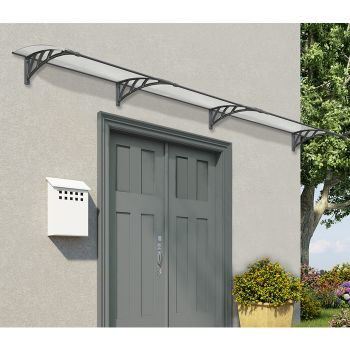 Palram Large Grey Twinwall Doorway Canopy