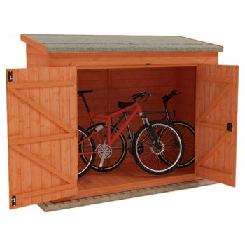 Redlands 7' x 4' Shiplap Pent Bike Shed