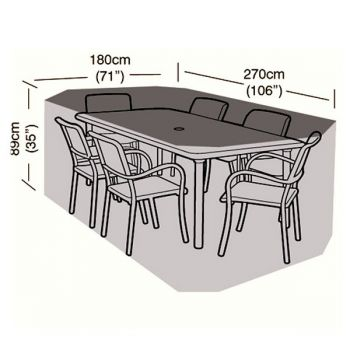 Protector - 6 Seater Rectangular Patio Set Cover - 270cm