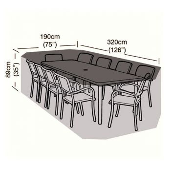 Protector - 8/10 Seater Rectangular Patio Set Cover - 320cm