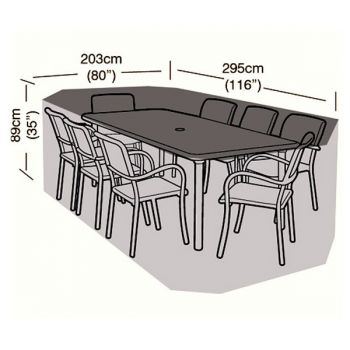 Protector - 8 Seater Rectangular Patio Set Cover - 295cm