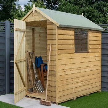 Rowlinson 4' x 6' Pressure Treated Overlap Apex Shed