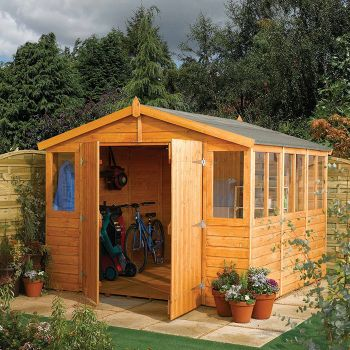 Rowlinson 9' x 18' Double Door Tongue and Groove Apex Workshop
