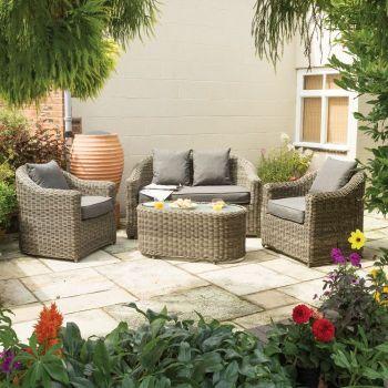 Rowlinson Bunbury Rattan Sofa Set - Natural Weave