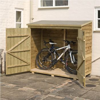 Rowlinson 6' x 3' Double Door Overlap Bike Shed