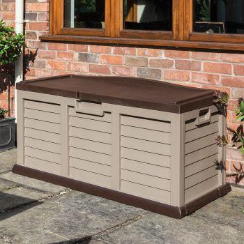 Rowlinson Plastic Cushion Box/Bench - Mocha