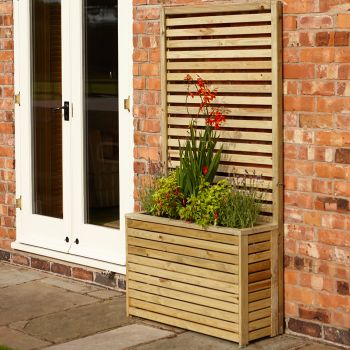 Rowlinson Slatted Tall Planter