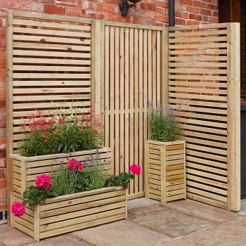 Rowlinson Horizontal Slatted Panel - Pack of 4