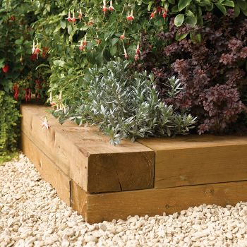 Rowlinson Timber Blocks 1.8m - Pack of 2