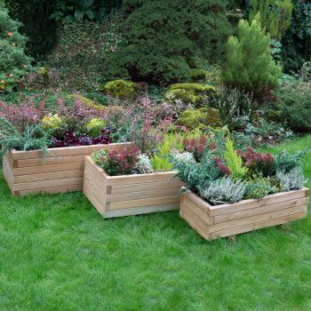 Hartwood Set of Three Rectangular Planters