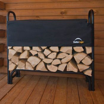 Shelter Logic Small Log Rack With Cover