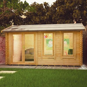 Redlands 4.8m x 3.6m Troon Log Cabin