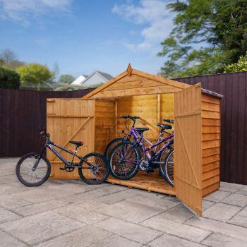 Adley 7' x 3' Overlap Apex Bike Shed