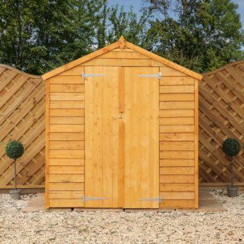 Adley 6' x 4' Windowless Double Door Overlap Apex Shed
