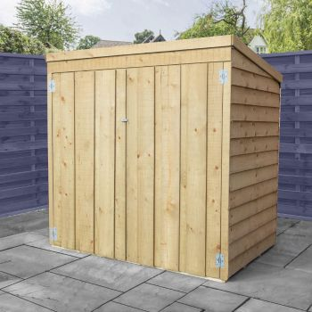 Adley 5' x 3' Pressure Treated Overlap Pent Mower Shed