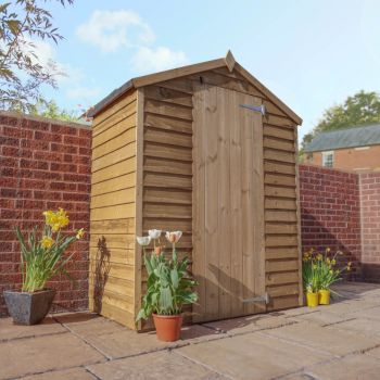Adley 5' x 3' Pressure Treated Windowless Overlap Apex Shed