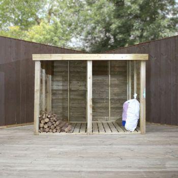 Adley Premium Pressure Treated Double Log Store