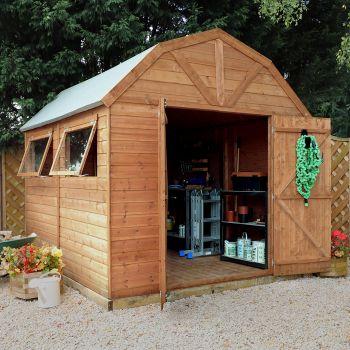 Adley 8' x 10' Premium Pressure Treated Double Door Shiplap Dutch Barn