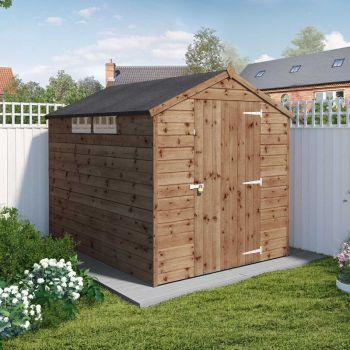 Adley 6' x 8' Pressure Treated Apex Security Shed
