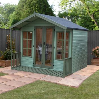 Adley 8' x 8' Premium Traditional Summer House With Veranda